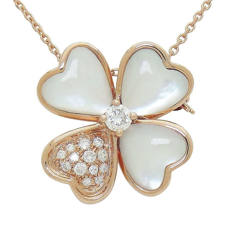 Van Cleef & Arpels 18k  Diamond & Pearl Cosmos Pendant