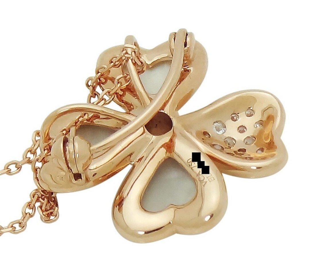 Van Cleef & Arpels 18k  Diamond & Pearl Cosmos Pendant - 3