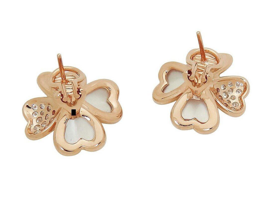 Van Cleef & Arpels 18k  Diamond Pearl Cosmos Earrings - 2