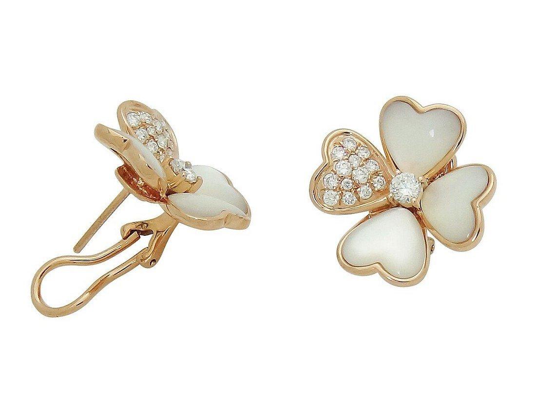 Van Cleef & Arpels 18k  Diamond Pearl Cosmos Earrings - 3