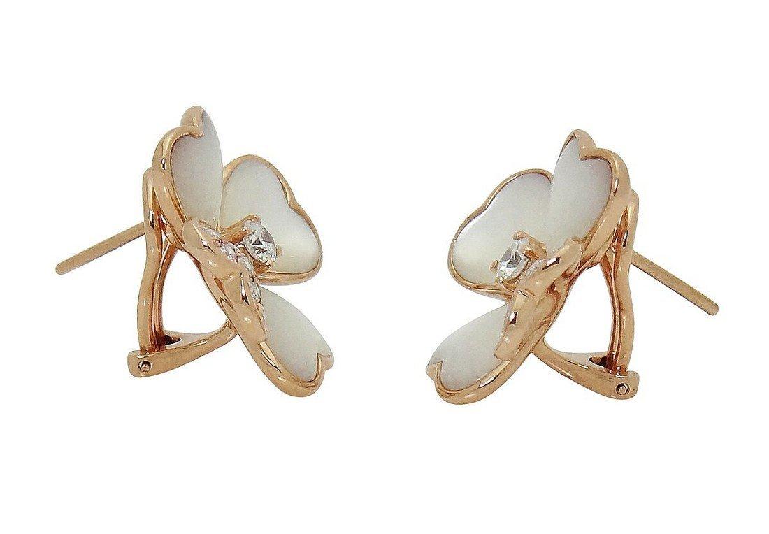 Van Cleef & Arpels 18k  Diamond Pearl Cosmos Earrings - 5