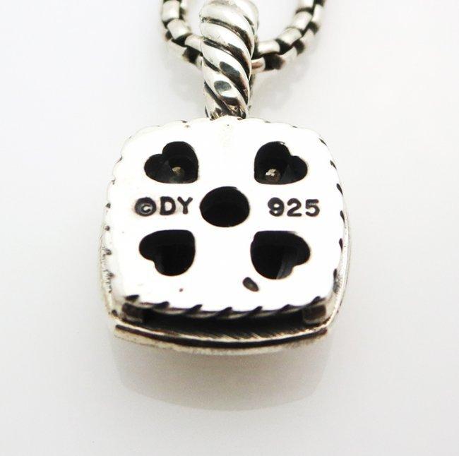 David Yurman Petite Albion Pendant Necklace Onyx - 5