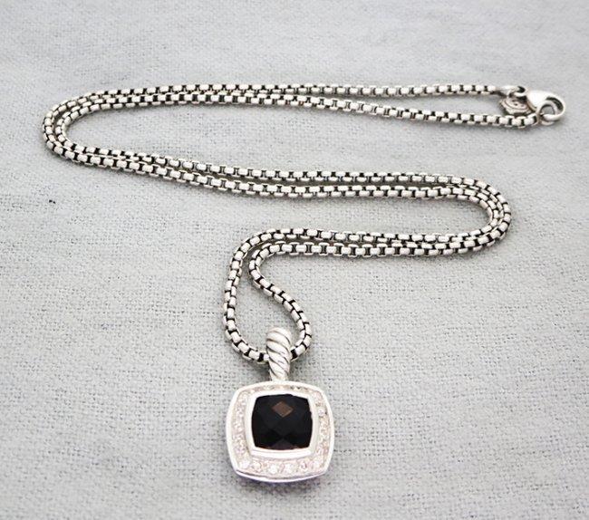 David Yurman Petite Albion Pendant Necklace Onyx - 8