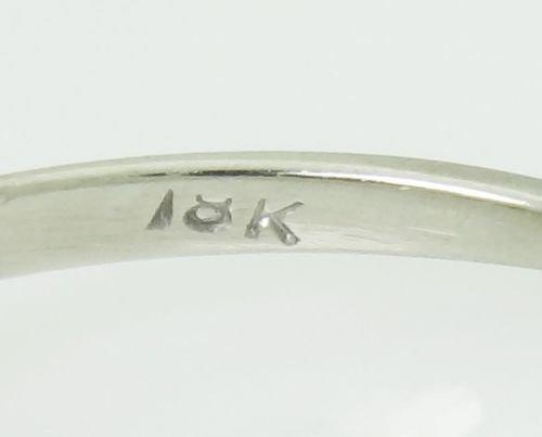 Estate 18k White Gold & 0.60ct TCW VS SI Diamond Ring - 3