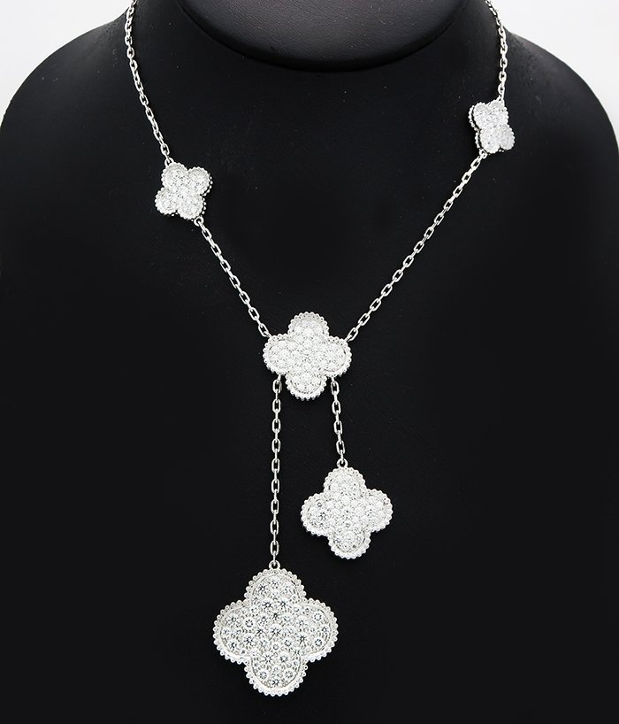 Van Cleef Arpel Magic Alhambra 6 Motif Diamond necklace