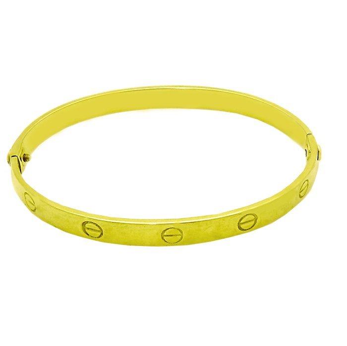 Vintage Cartier Aldo Cipullo 18K Yellow Gold bangle