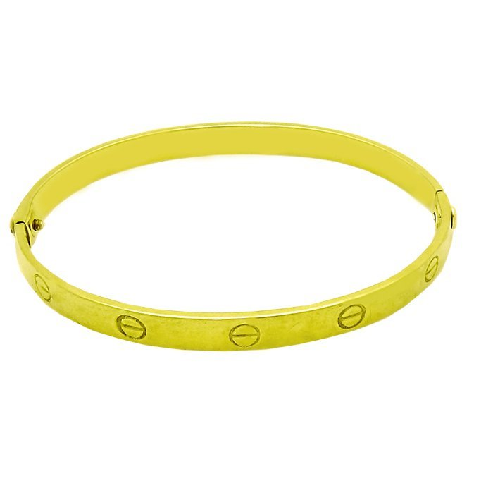 Vintage Cartier Aldo Cipullo 18K Yellow Gold bangle
