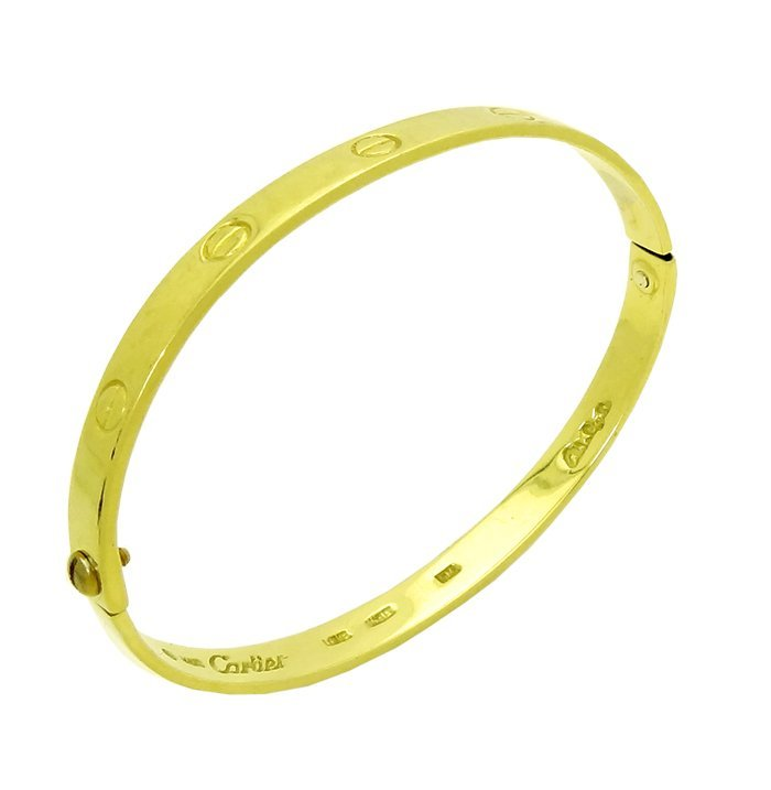 Vintage Cartier Aldo Cipullo 18K Yellow Gold bangle - 2