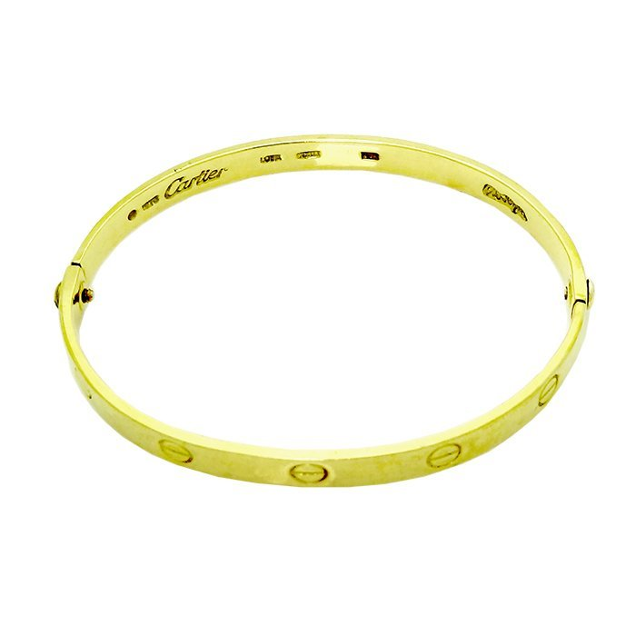Vintage Cartier Aldo Cipullo 18K Yellow Gold bangle - 3