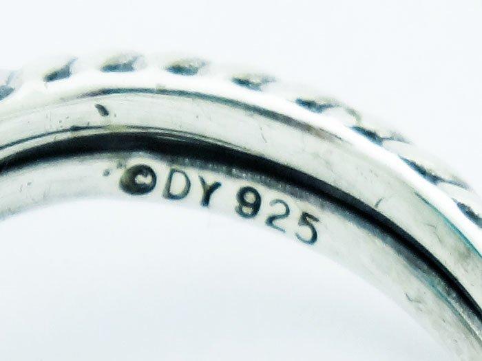 David Yurman  Chatelaine Ring Blue Topaz & Diamonds 925 - 4