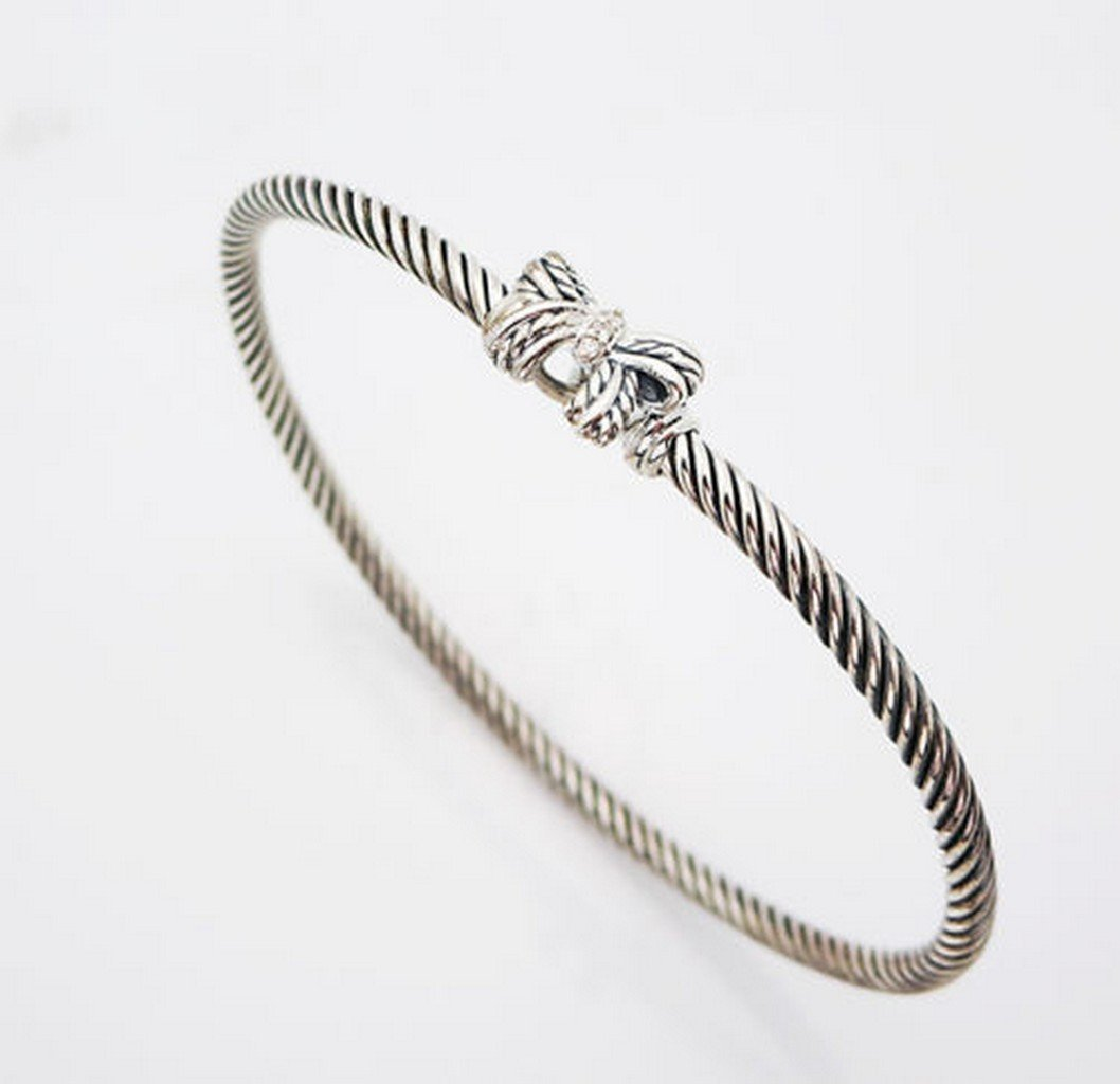 David Yurman 18K Gold & Silver X Bracelet 4 mm.