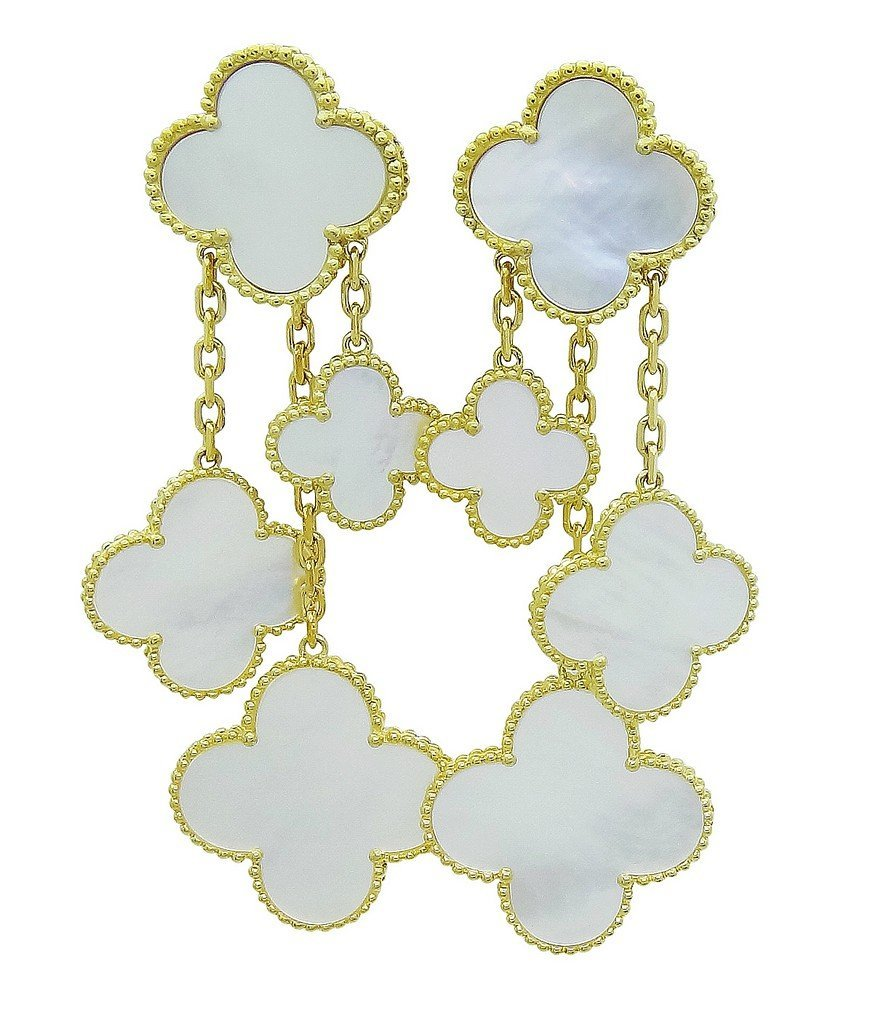 Van Cleef & Arpels 18k Magic Alhambra 4 Motifs Earrings