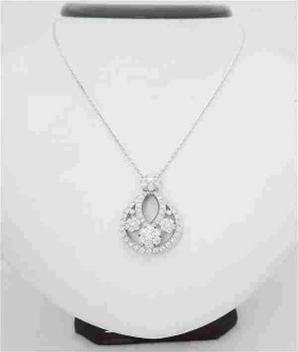 Van Cleef Arpels 18k Fleurette Diamond Pendant Necklace