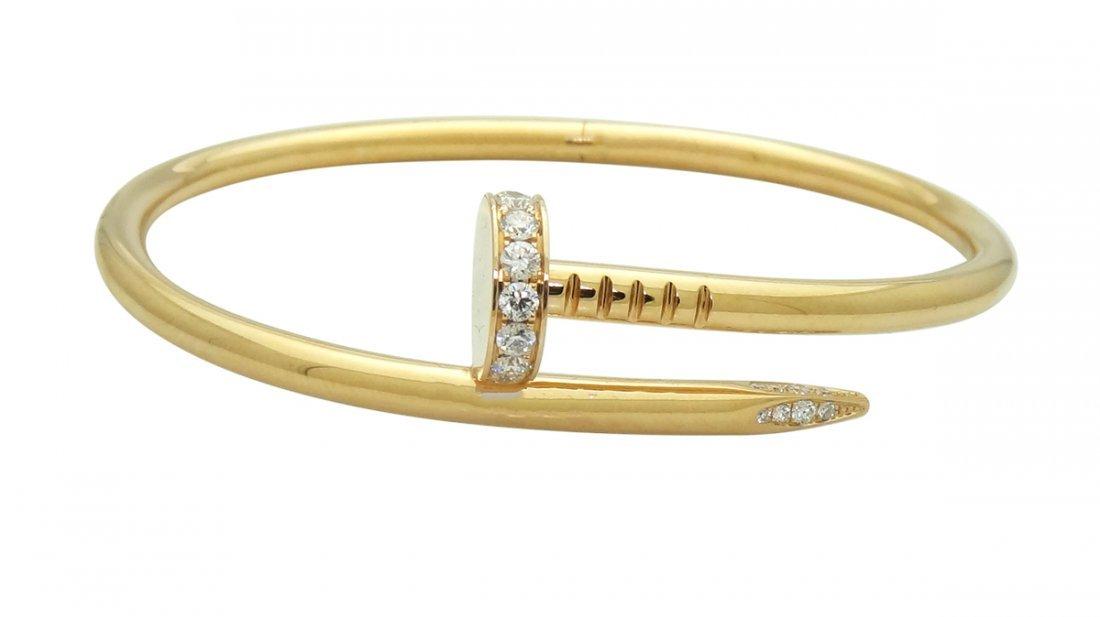 Cartier 18K Pink Juste un Clou 0.54 Diamond Bracelet