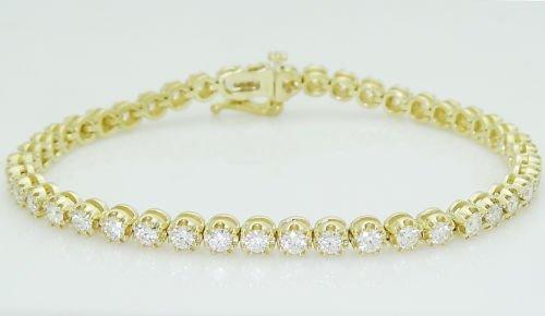 Jafa 18k 3.60 TCW  Brilliant  Diamond Tennis  Bracelet