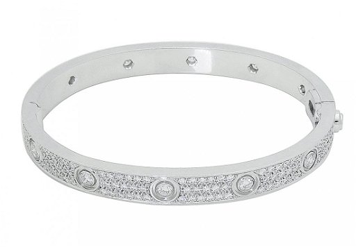 Cartier 18k White Gold Diamond Paved