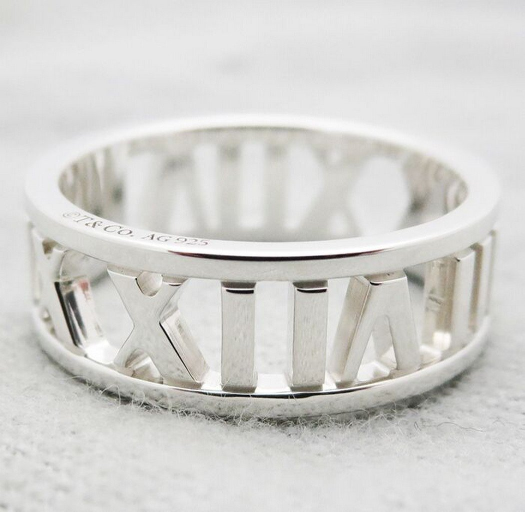 Tiffany & Co Atlas(R) open wide  Sterling Silver  Ring