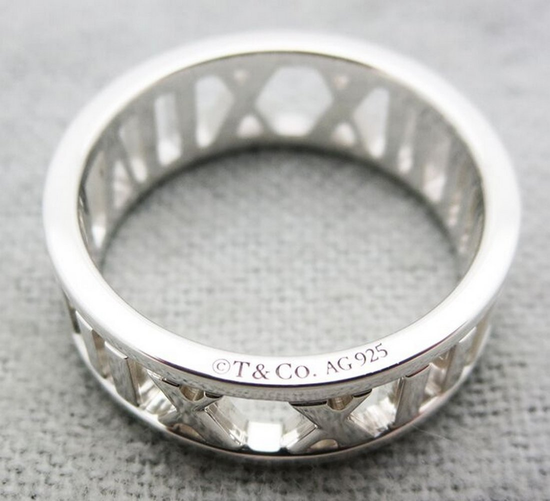 Tiffany & Co Atlas(R) open wide  Sterling Silver  Ring - 3