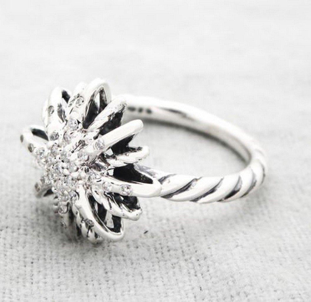 David Yurman Sterling Silver Starburst Ring & Diamonds - 2