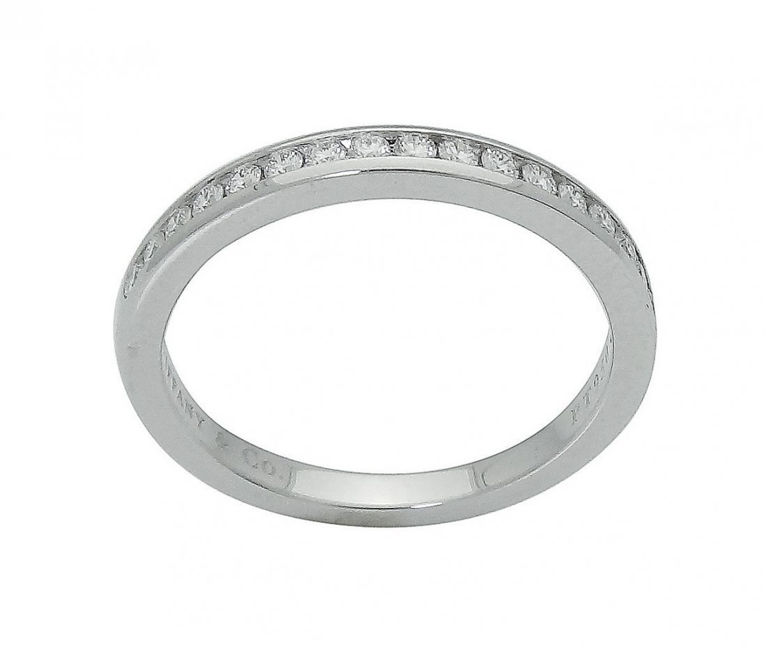 Tiffany & Co Round Brilliant Diamond Wedding Band Ring
