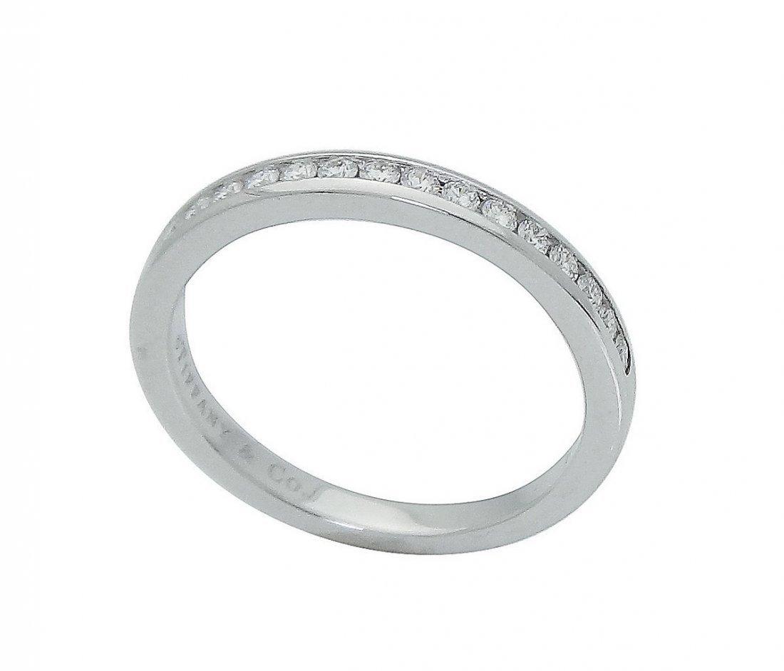 Tiffany & Co Round Brilliant Diamond Wedding Band Ring - 2