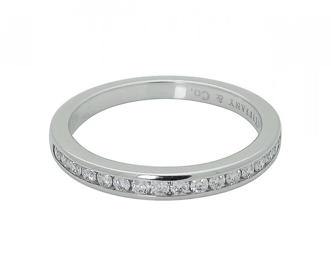 Tiffany & Co Round Brilliant Diamond Wedding Band Ring - 5