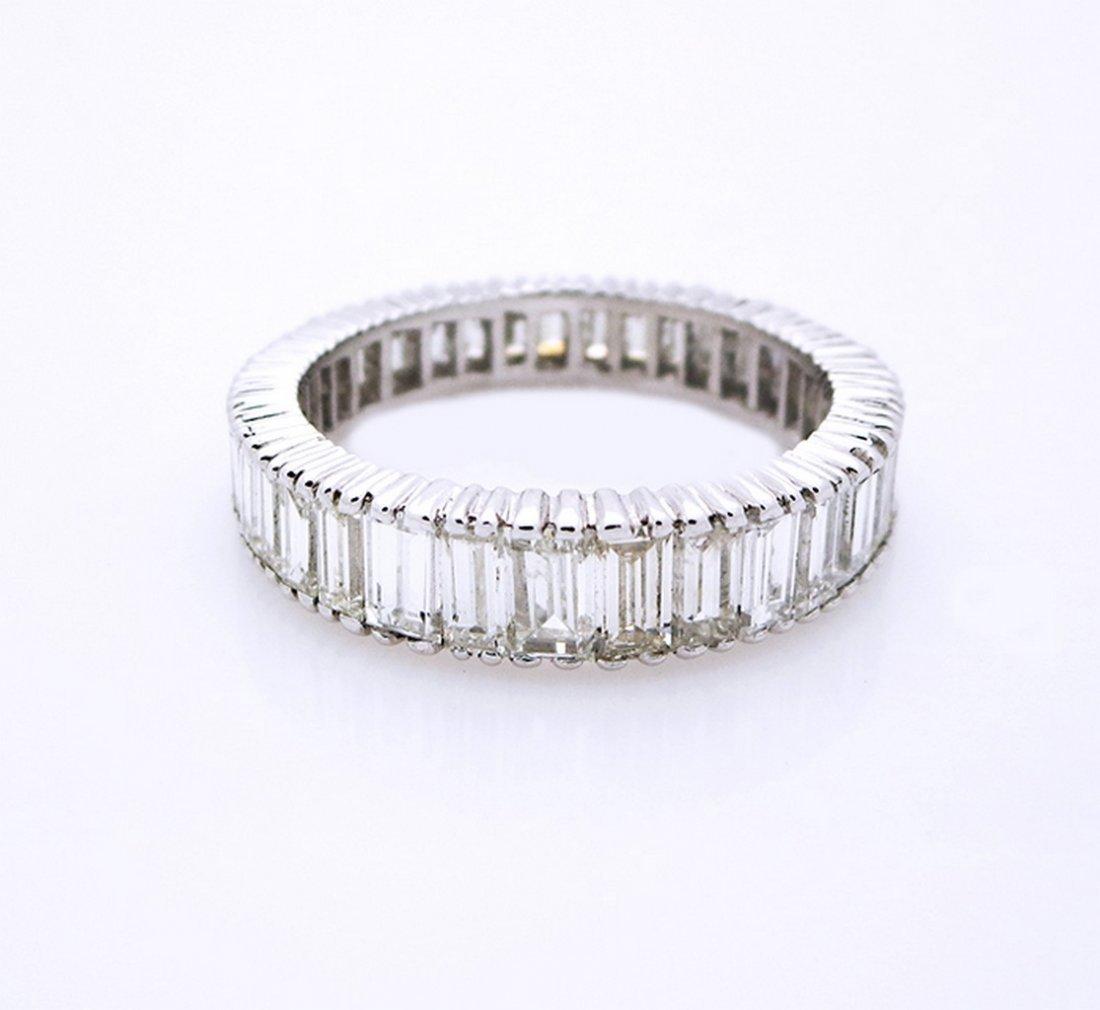 Platinum Eternity Style Baguette Diamond Ring