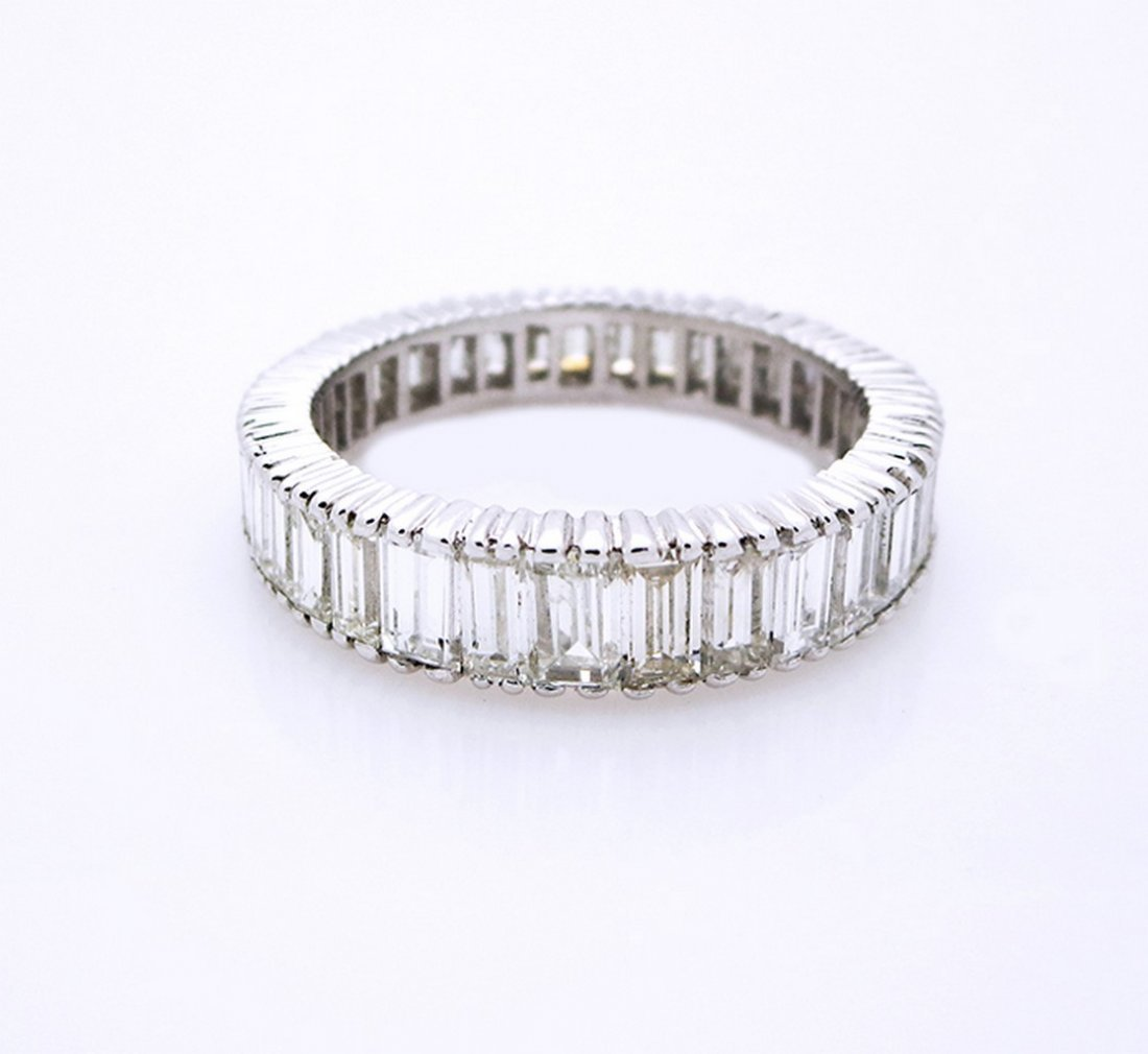 Platinum Eternity Style Baguette Diamond Ring