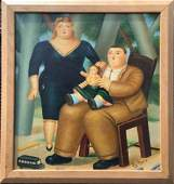 Fernando Botero Colombian Oil on Masonite