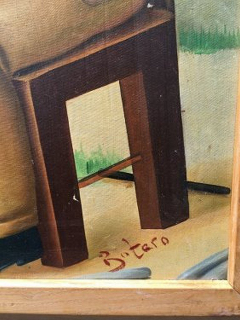 Fernando Botero Colombian Oil on Masonite - 3