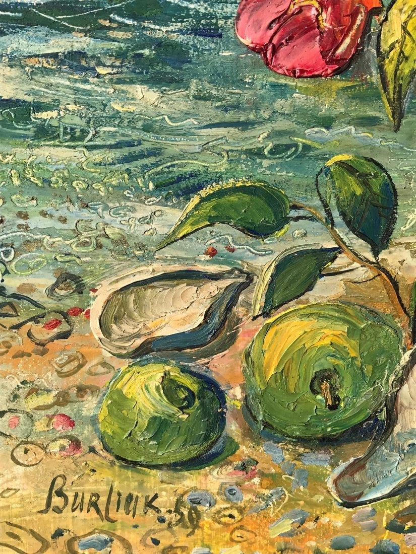 David Burliuk  Oil Painting on Board Bouquet of Flowers - 3