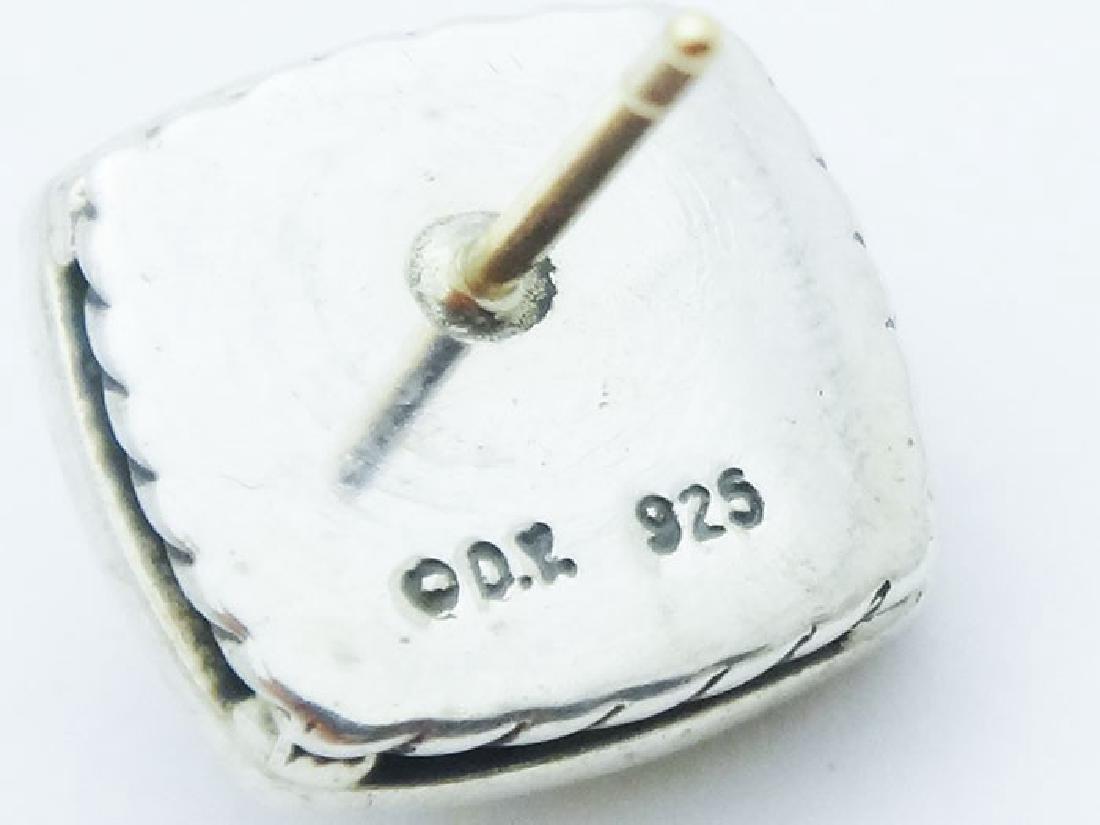 David Yurman Silver Albion Earrings Hematite & Diamonds - 2