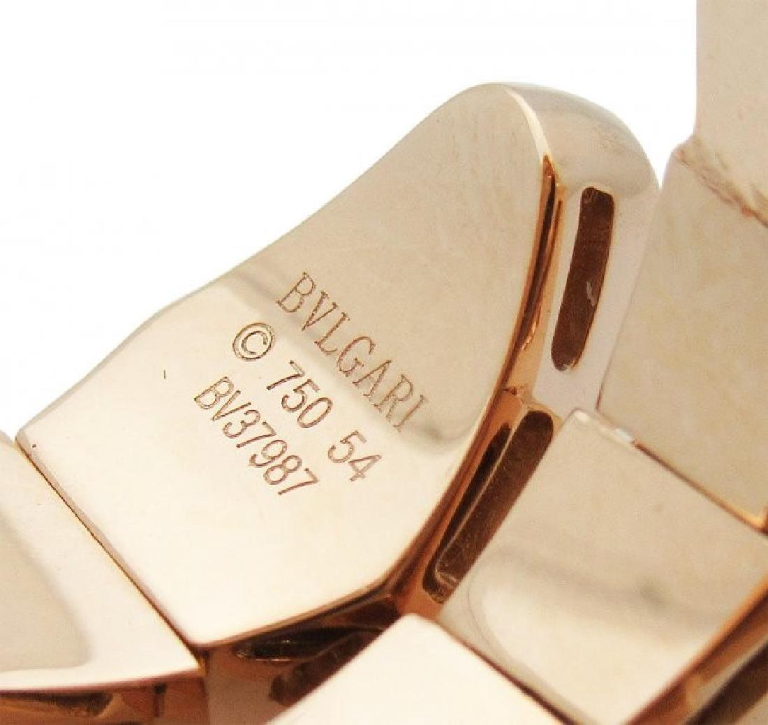 Bulgari Seprenti 18k Rose Gold Pave Diamonds Ring - 5