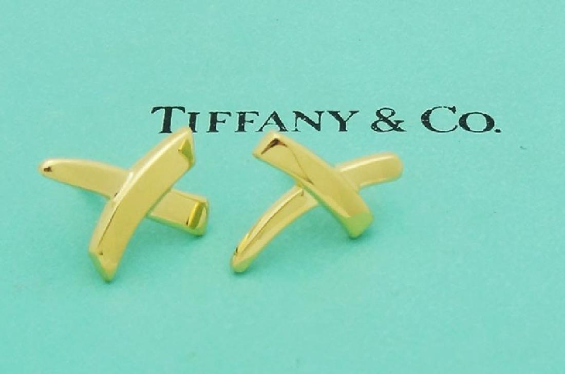Tiffany & Co. Paloma Picasso X Kiss 18K Stud Earrings