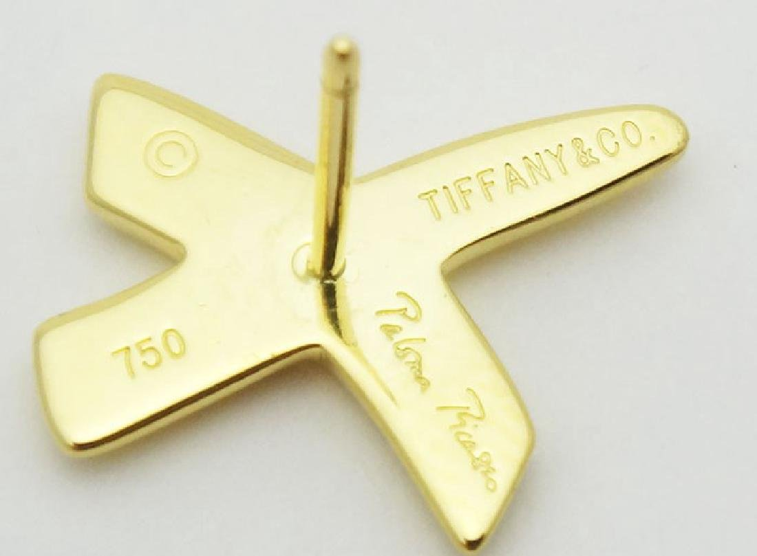 Tiffany & Co. Paloma Picasso X Kiss 18K Stud Earrings - 2