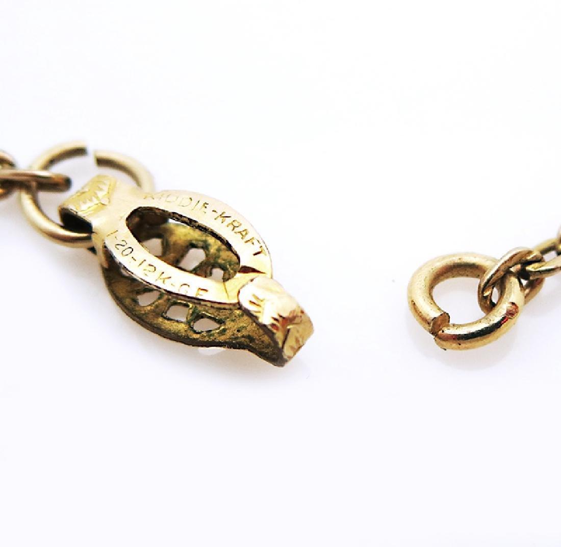Contemporary 14k Gold organic design Pendant - 3