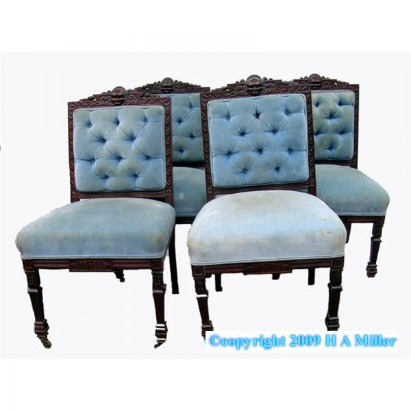 Victorian American Chair Set Rosewood Northwind