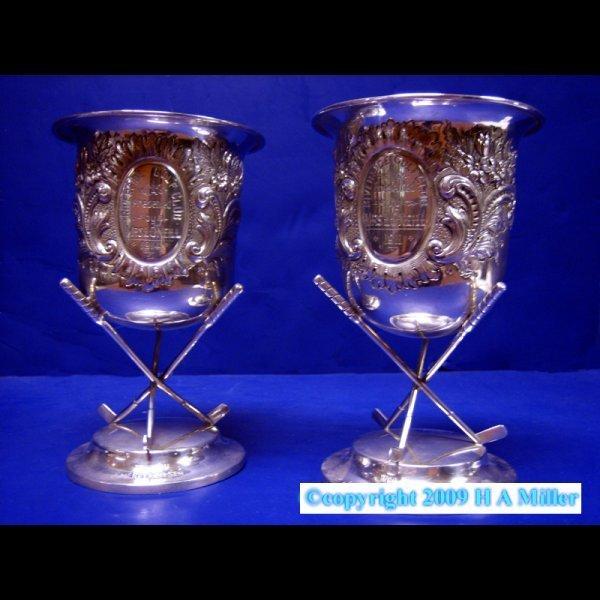 Sterling Silver Irish Golf Trophies H & H Dublin 1900s