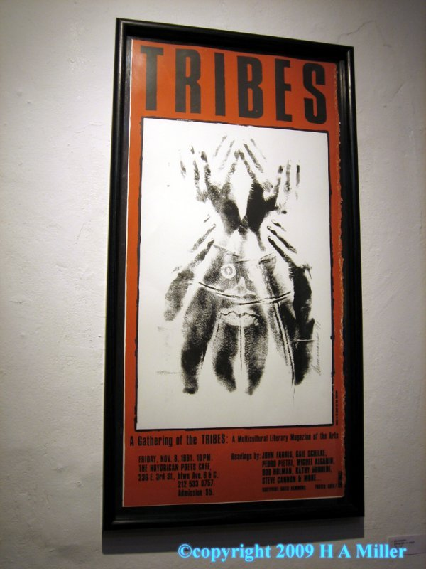 "16: David Hammons Silk Screen Signed ""Tribes Print"" 199"
