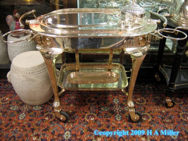 18: Silver Plated Meat Carving Trolley