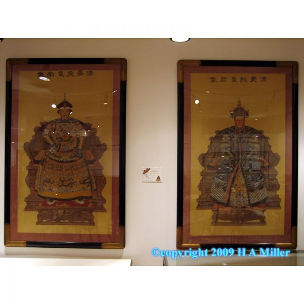22: Chinese Ching Dynasty Pair Paintings on Silk King &
