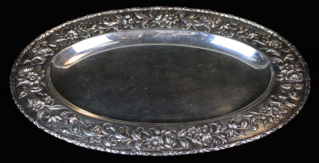 S. Kirk & Son sterling silver oval serving platter with