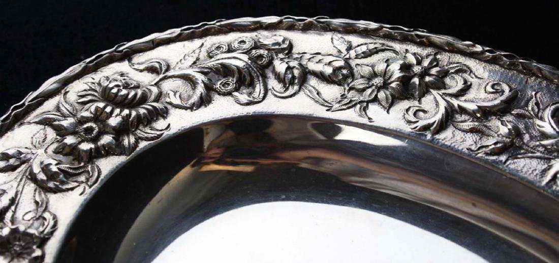 S. Kirk & Son sterling silver oval serving platter with - 6