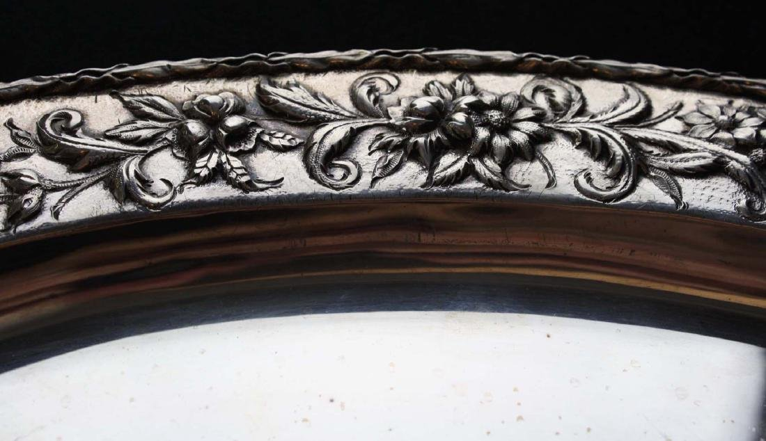 S. Kirk & Son sterling silver oval serving platter with - 7