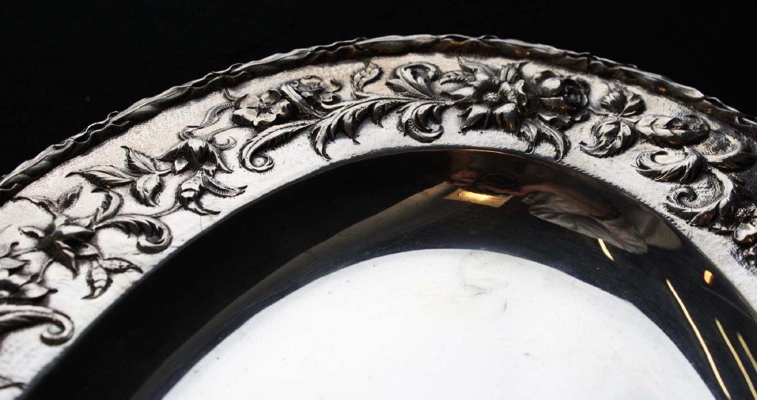 S. Kirk & Son sterling silver oval serving platter with - 8