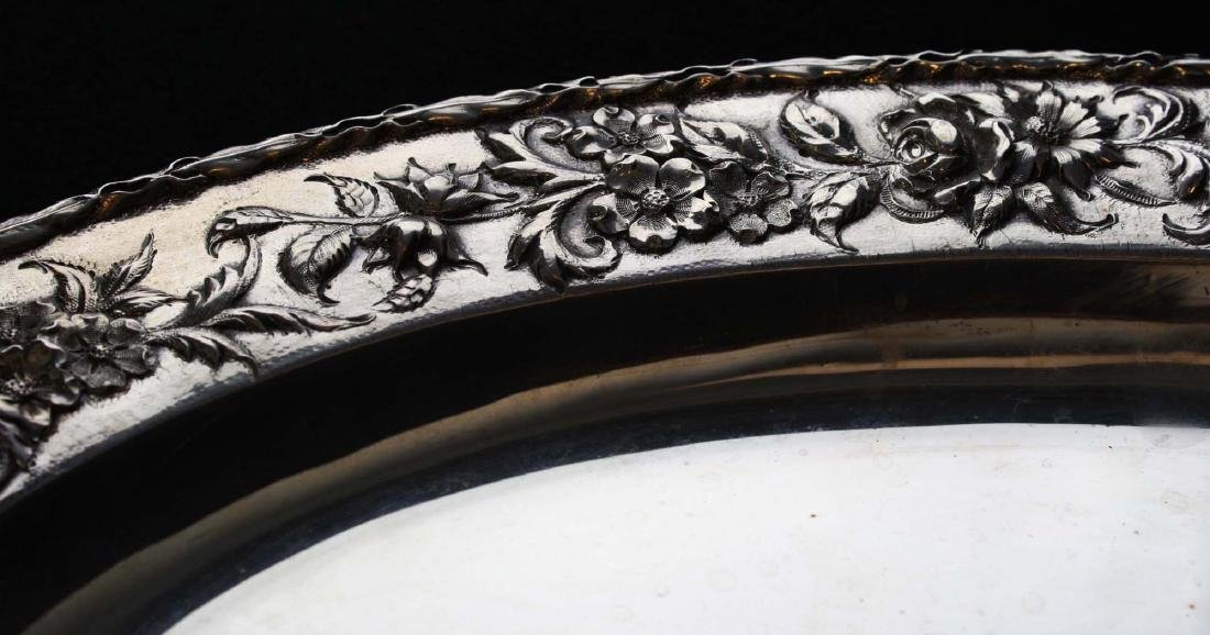 S. Kirk & Son sterling silver oval serving platter with - 9