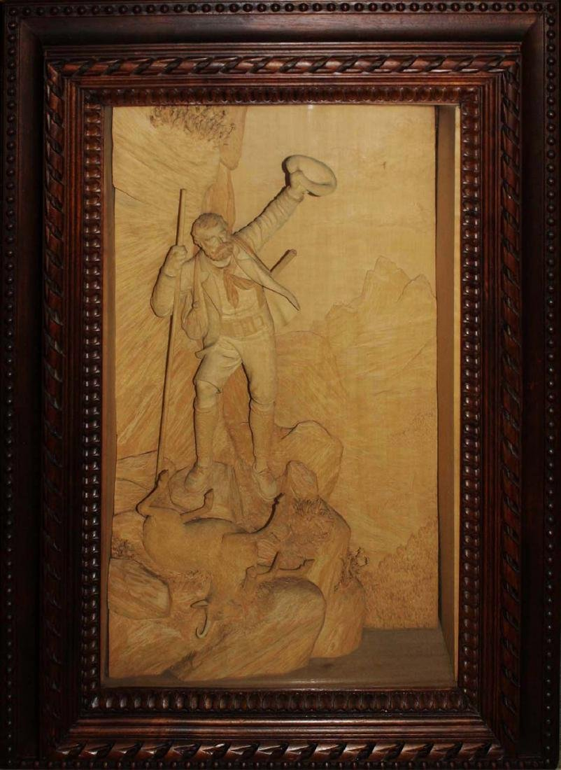 ca 1900 German Black Forest carving by Ernst Steiner