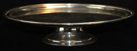 Tiffany & Co. sterling silver footed tray cake stand