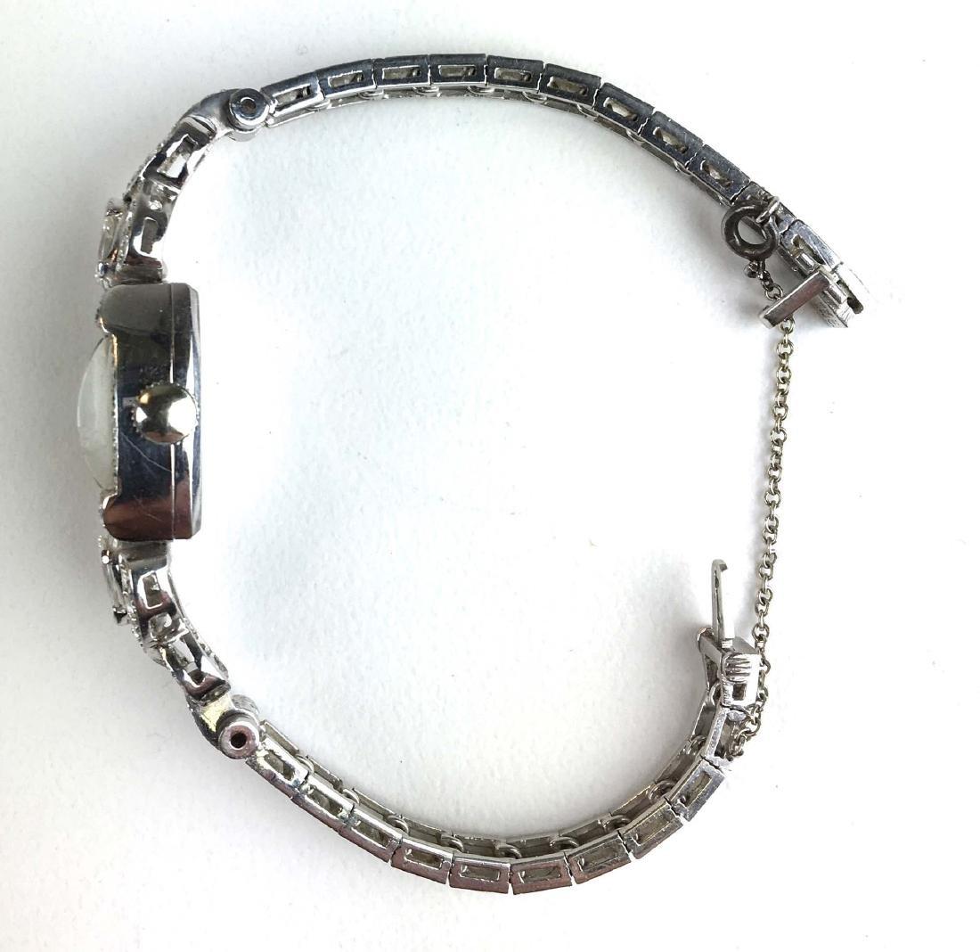 Fine ladies diamond and platinum wrist watch. - 2