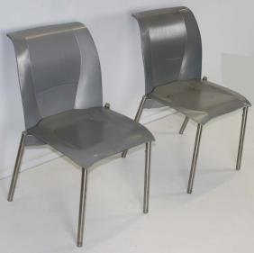 Set of 4 Frank Gehry Fog Knoll chairs 1999.